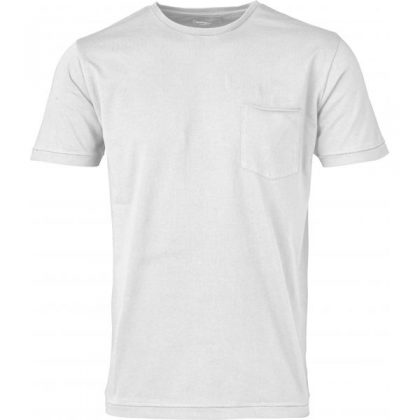KnowledgeCotton Apparel - Basic Tee With Chest Pocket (Bright White)