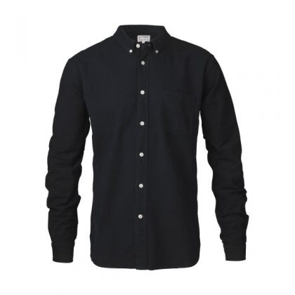 KnowledgeCotton Apparel - Button Down Oxford Shirt (Total Eclipse)